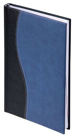 Blue leather notebook in the white background  photo