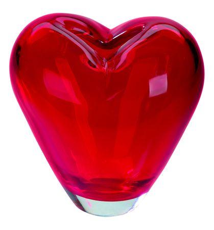 beautiful vase form of hearts on white Stock Photo - 6241301