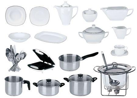 New kitchen set isolated on white background Stock Photo - 6286626
