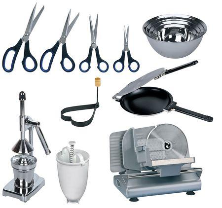 New kitchen set isolated on white background  photo