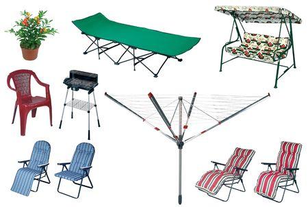 Big summer outdoors set isolation on white background Stock Photo - 6474088