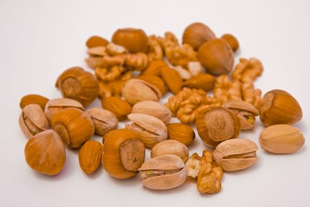 composition of various kinds of nuts photo