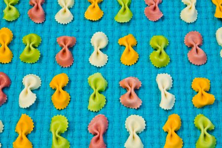 colorful bow pasta background photo