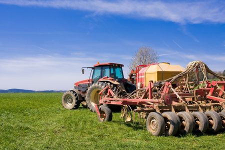 tractor on a meadow Stock Photo - 2951717