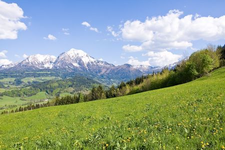 alpine landscape in the springtime Stock Photo - 3078246