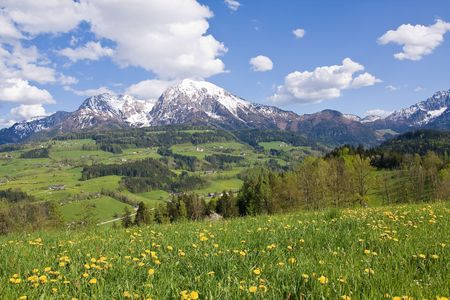 alpine landscape in the springtime Stock Photo - 3084411