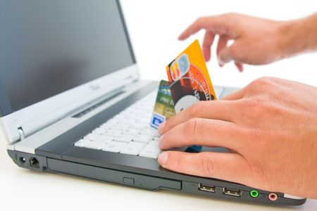 online shopping with shallow DOF photo