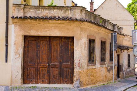 door way: old and shabby door way