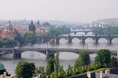 bridge over vltava in prag photo