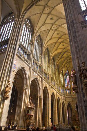 beautiful cathedral in prag, czech republic photo