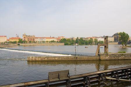 vltava river in prag, czech capital photo