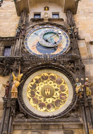 astronomical clock in prag, czech republic photo