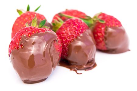 strawberry dipped in melted chocolate Stock Photo - 3335369