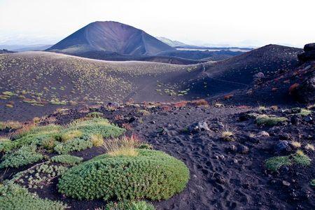 lave: trekking on Etna volcano in Sicily