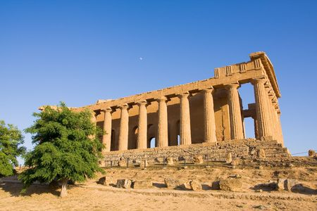 greek temple at the sunset Stock Photo - 3381761