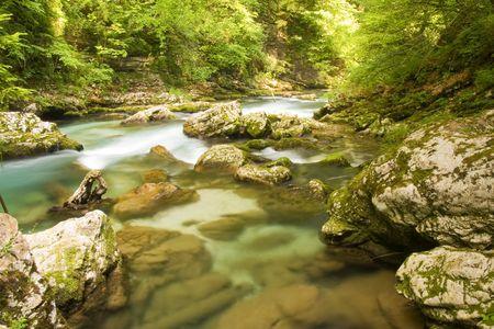 a mountain waterfall in slovenia Stock Photo - 3398686