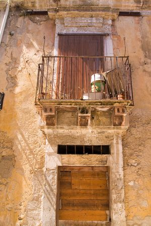 solidify: typical architecture detail of old sicilian town