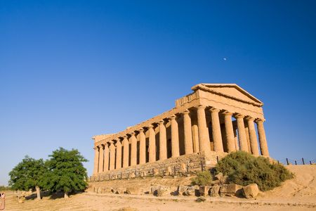 greek temple at the sunset Stock Photo - 3434678