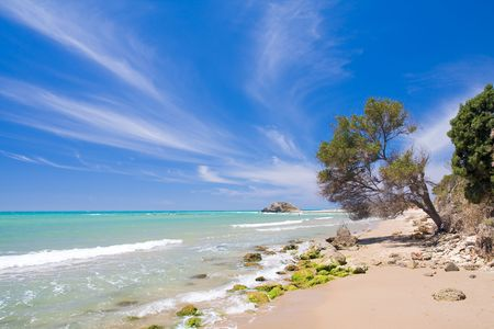 beautiful exotic beach in Mediterranean photo