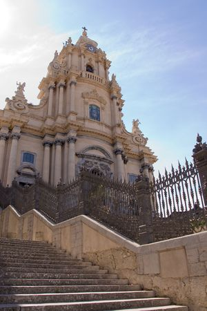 typical baroque church in sicily, italy Stock Photo - 3461435