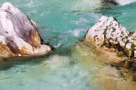 a mountain waterfall in slovenia photo