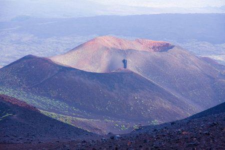trekking on Etna volcano in Sicily Stock Photo - 3668687