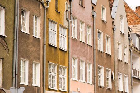 closeup of historic architecture in Gdansk, Poland photo