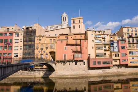 architectural architectonic: historical city of Girona, Spain