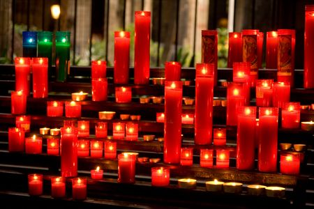 glowing candles on dark background Stock Photo - 3744598