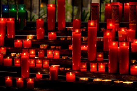 glowing candles on dark background Stock Photo - 3750762