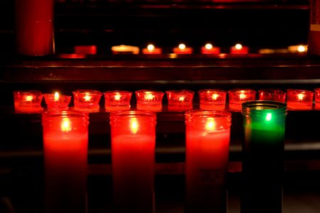 glowing candles on dark background Stock Photo - 3789937