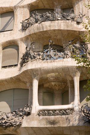 typical Art Nouveau building in Barcelona, Spain photo