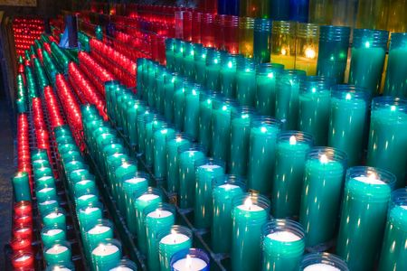 glowing candles on dark background Stock Photo - 3790045