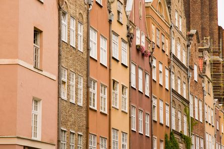 closeup of historic architecture in Gdansk, Poland Stock Photo - 3807384