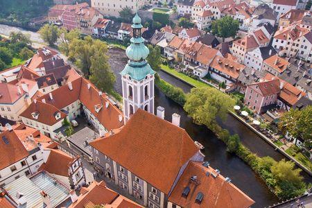donjon: czech historical town Cesky Krumlov enlisted in UNESCO
