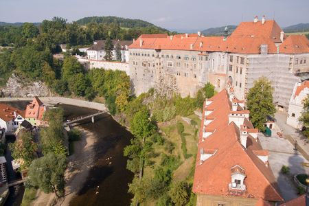 czech historical town Cesky Krumlov enlisted in UNESCO photo