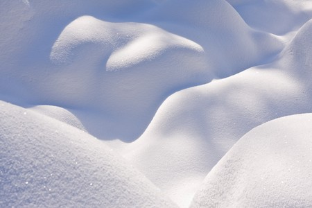heap snow: mountains covered with fresh powder snow