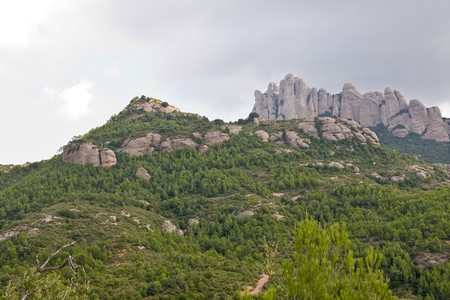 conglomeration: Montserrat mountains in Catalonia, Spain Stock Photo