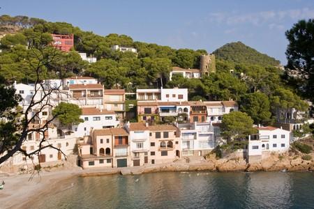 costa brava: joli petit village sur la c�te de la Costa Brava, Espagne Banque d'images