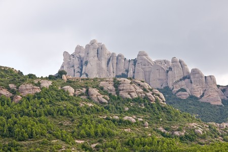 Montserrat mountains in Catalonia, Spain photo