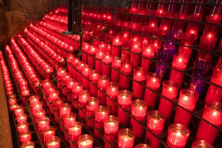 glowing candles on dark background Stock Photo - 4500140