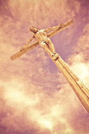 holy cross with crucified Jesus Christ photo