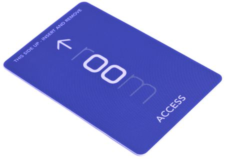 access card on white background Stock Photo