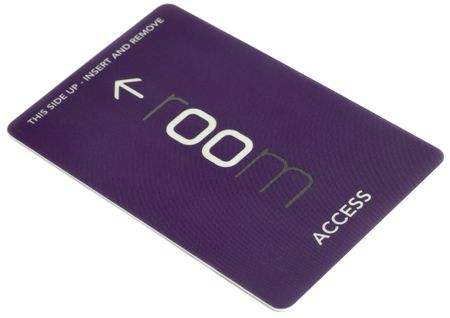 hotel service: access card on white background Stock Photo