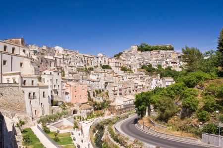 solidify: typical old sicilian architecture, italy Stock Photo