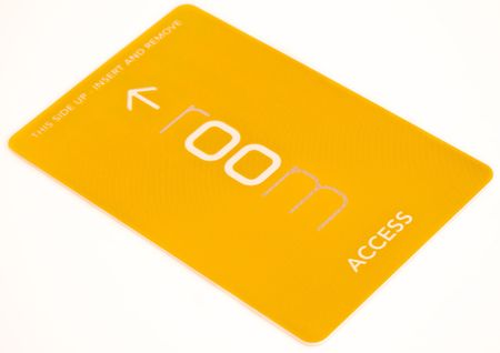access card on white background photo