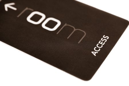 text room: access card on white background Stock Photo