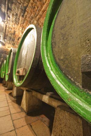 wine barrels in old wine cave Stock Photo - 5099461