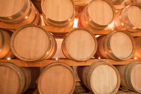 wine barrels in old wine cave Stock Photo - 5183652
