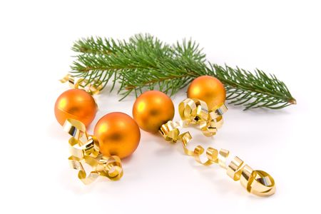 christmas decoration and a tree branch photo